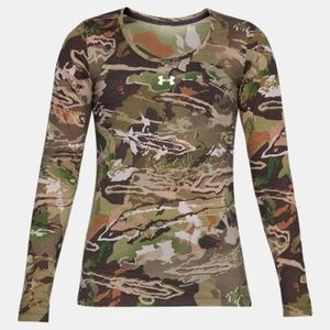 New Under Armour Camo Hunting Base Layer Shirt XL